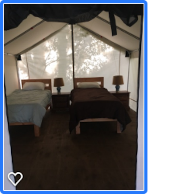 Tent with 2 single beds