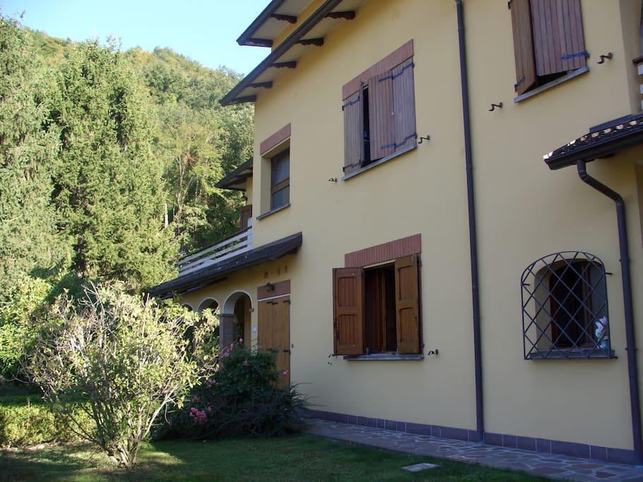 facciata nord della casa