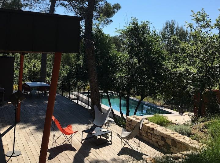 Entre Aix et Luberon - 2 chambres+sdb pour 4 pers
