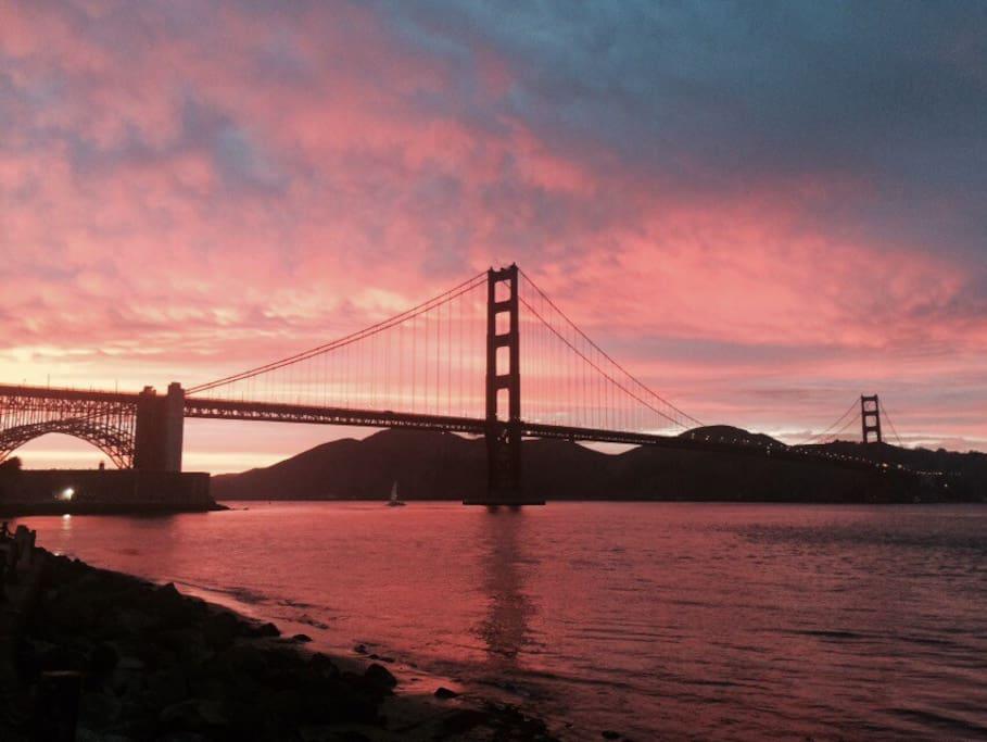 Golden Gate Bridge Views like this a few blocks away!