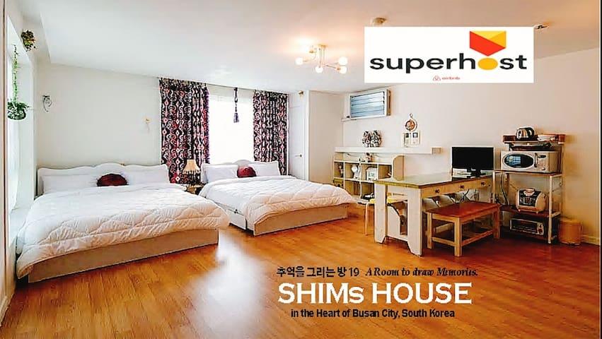 3beds:)Family room,Busan,Seomyeon Station 5min