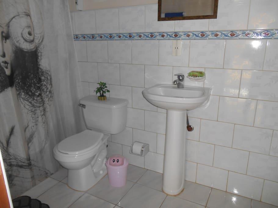 Baño de la primera habitacion.