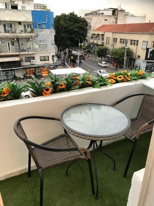 Sunny balcony. South side