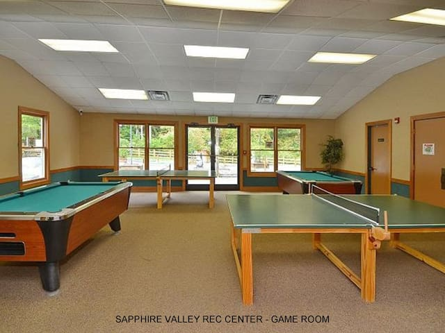 Play some pool at the recreation center in Sapphire Valley if you choose.