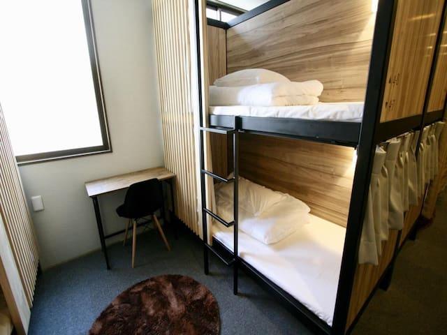 Qoo Hostel Osaka Twin Room with Bunk Bed