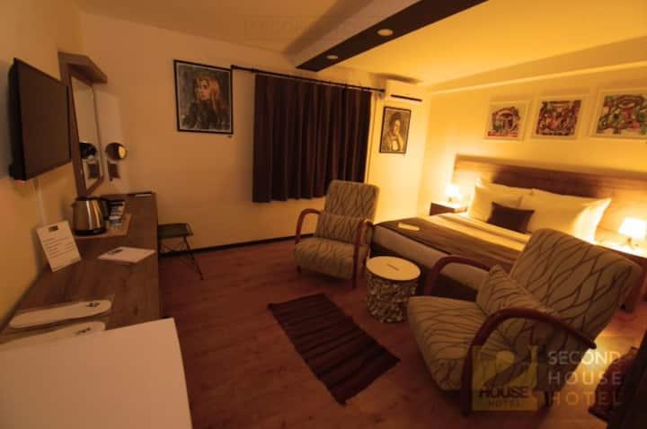 Benzersiz rahat ve tasarım odaları, merkezi konumu
