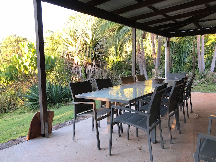 10 seater outdoor table.