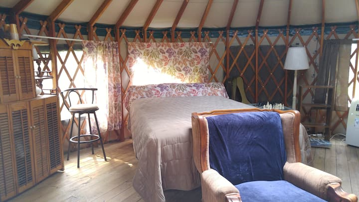 Stay in our Yurt....glamping at its finest.