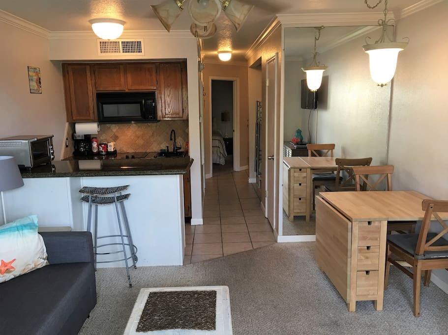Kitchen and Fold-away table