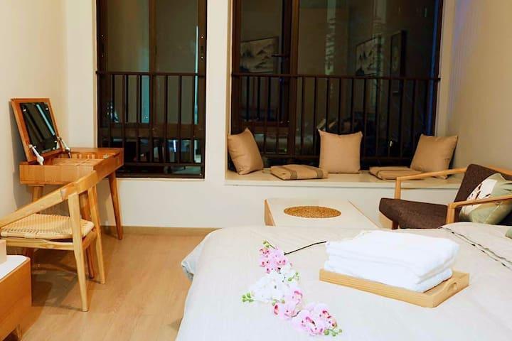 汉普敦国际度假公寓·时代花城 新中式复古风格(含早餐)园景双床房 - Qingyuan - Appartamento
