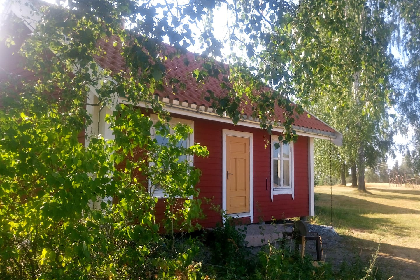 """A real Scandinavian """"hytte"""".  100% quiet, and, of course, 100% natural materials"""