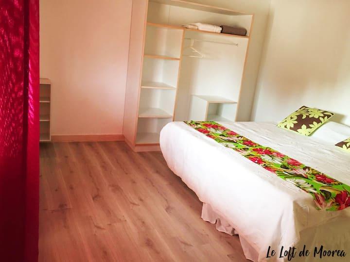 Belle chambre pour 2 à louer dans Loft equipé