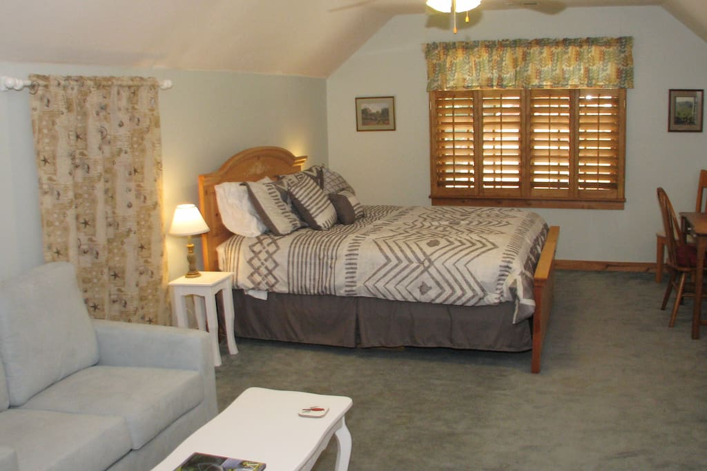 Your spacious private room with Queen Bed