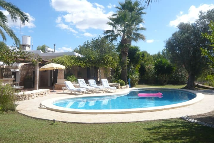 Surrounded by nature situated comfortable country house with pool and panoramic view