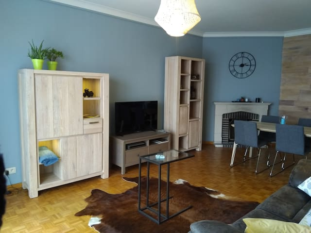15 min walk from Brussels, 2 bedroom 4 persons