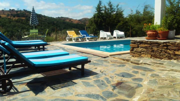 House with 2 bedrooms in Odemira, with wonderful mountain view and enclosed garden - 15 km from the beach