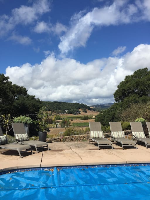 view from the pool deck to the valley