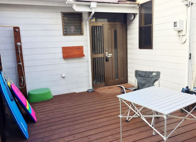 1Min from Beach & Enoden station.