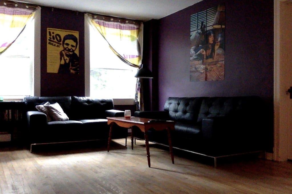 Living room where I never watch tv