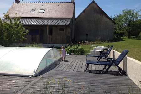 Traditional French farmhouse with swimming pool - Abilly - 獨棟