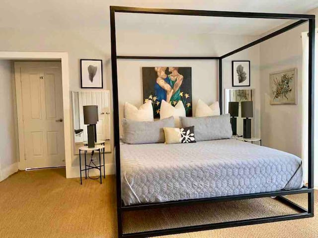 1st Large master bedroom with King size canopy bed