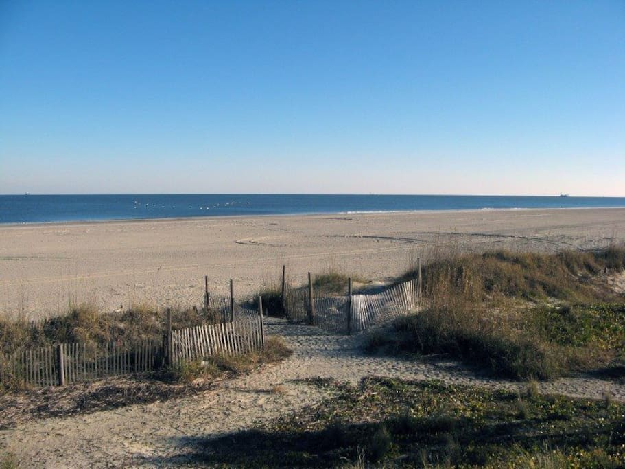Panoramic View of Tybee Beach and the Atlantic Ocean from your Private Balcony