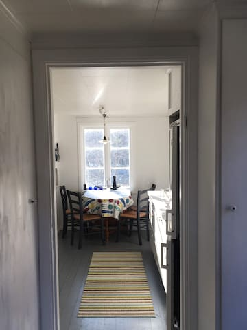 The kitchen seen from the hall.