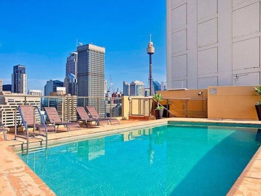 Rooftop heated pool
