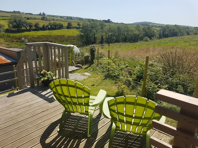 Lovely views and the evening sun on your private deck.
