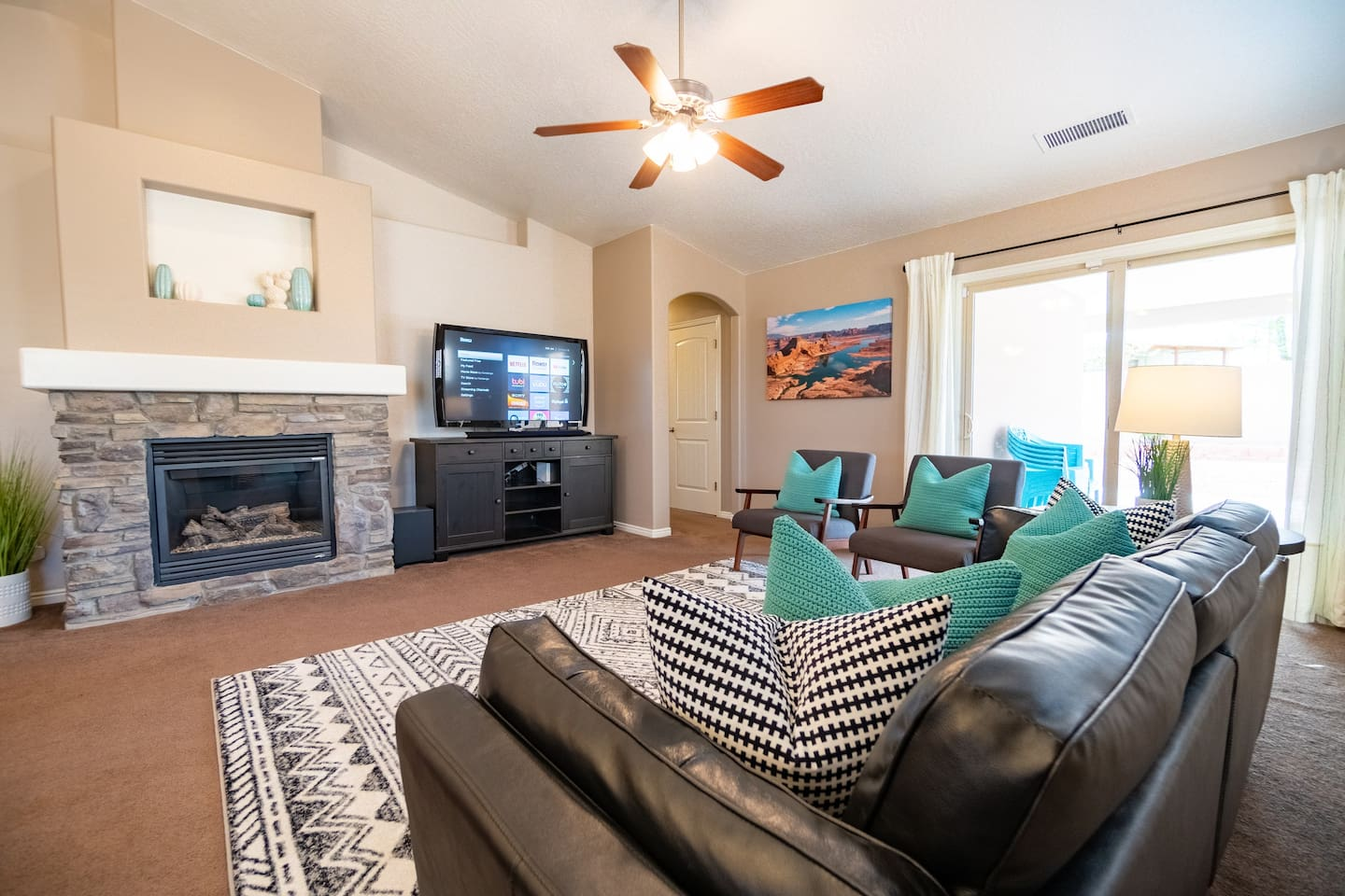 Comfortable and modern family room