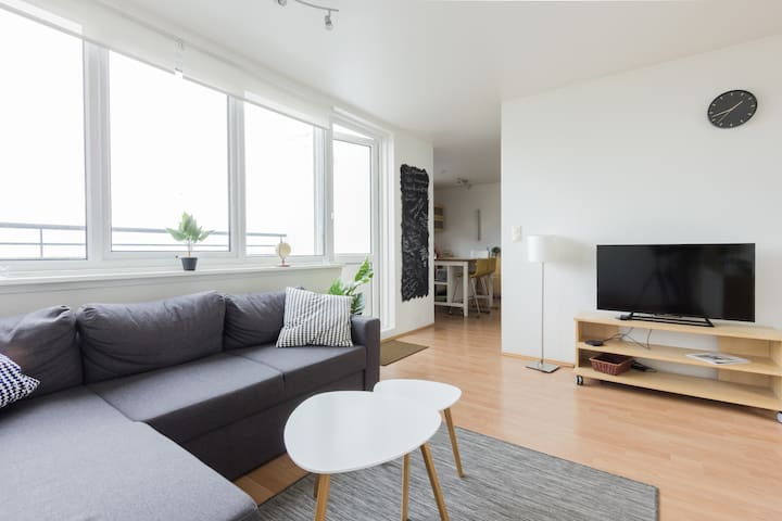 Bright downtown apt. - Amazing seaside view