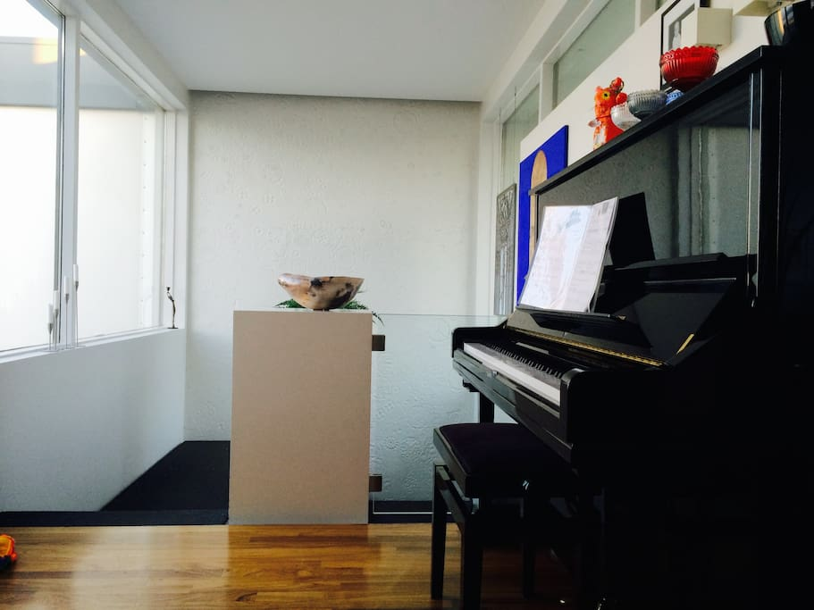Play our piano if you feel like adding some music to your vacation.