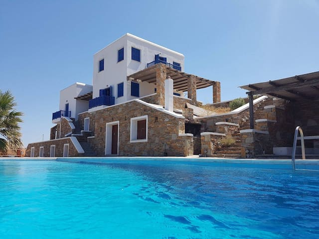The best pool view in the Aegean..