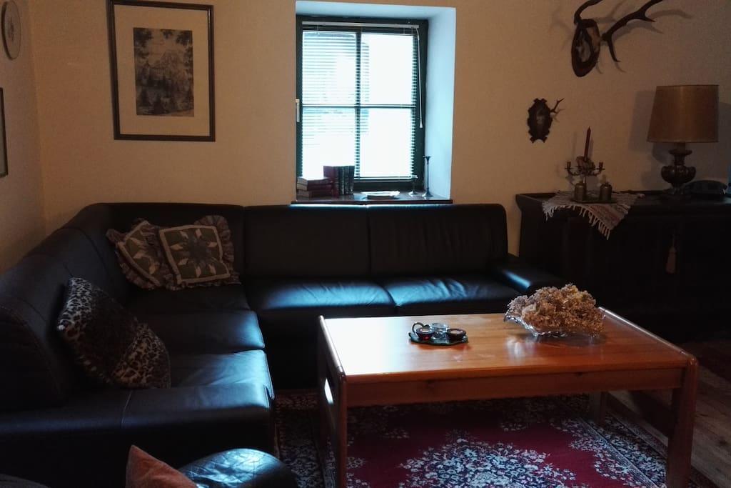 Ausziehsofa im Wohnzimmer