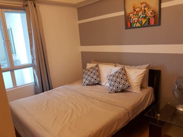 Bedroom with Cabinet wall (plenty of closet space)