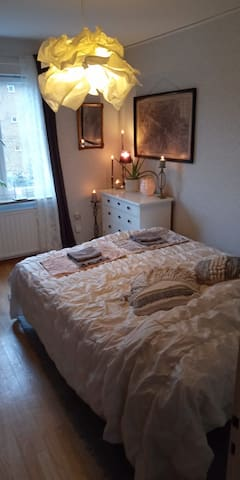Nice room close to Stockholm International Fairs