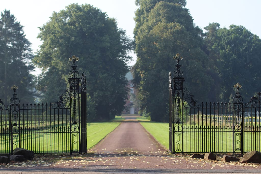 The gates on arrival