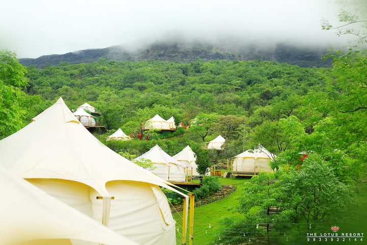Waterfall Deluxe Luxury Tent-II (The Lotus Resort)