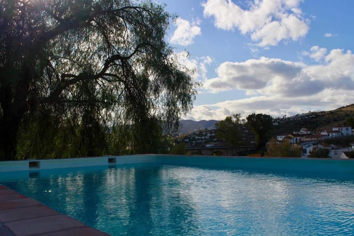 Vacation Home Cortijo el Puente with Mountain Views, Pool, Wi-Fi, Balcony, Terrace & Garden; Parking Available