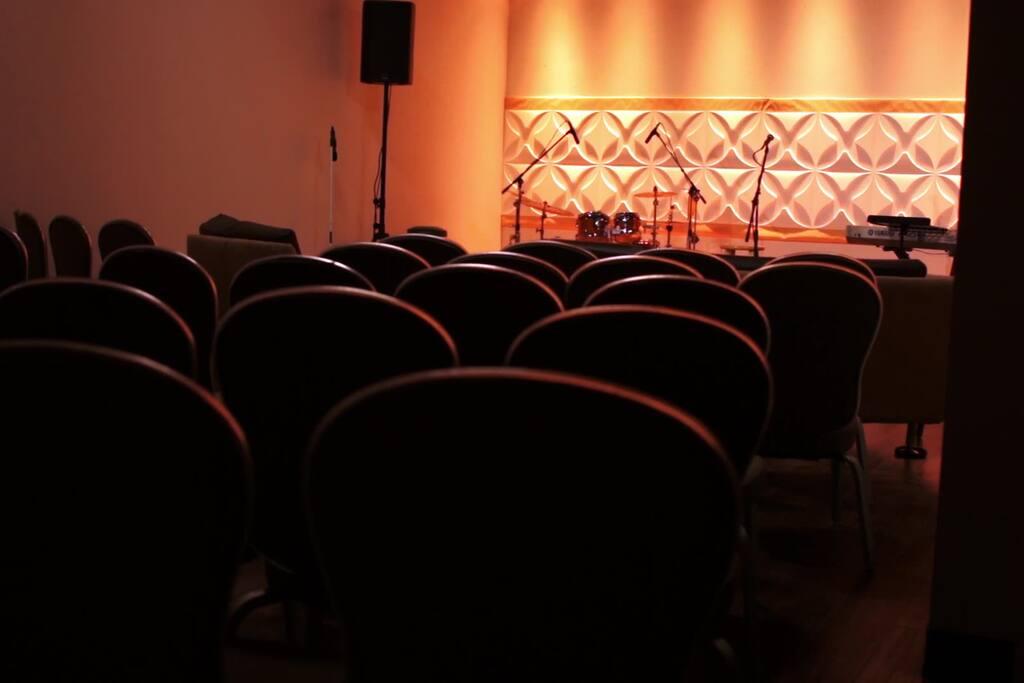 Genesis Studio - Chairs setup for concert