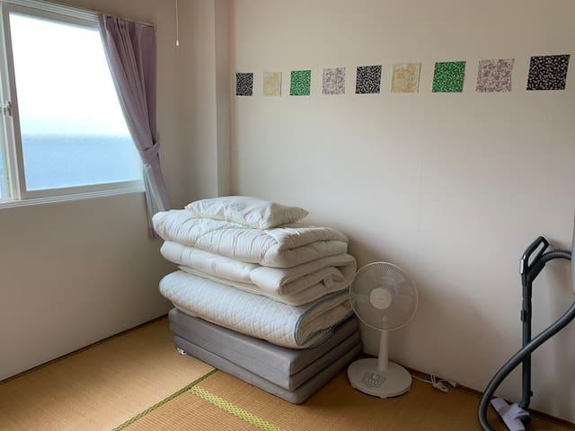 布団の和室。畳の部屋 ☺︎ Tatami Japanese-style room.