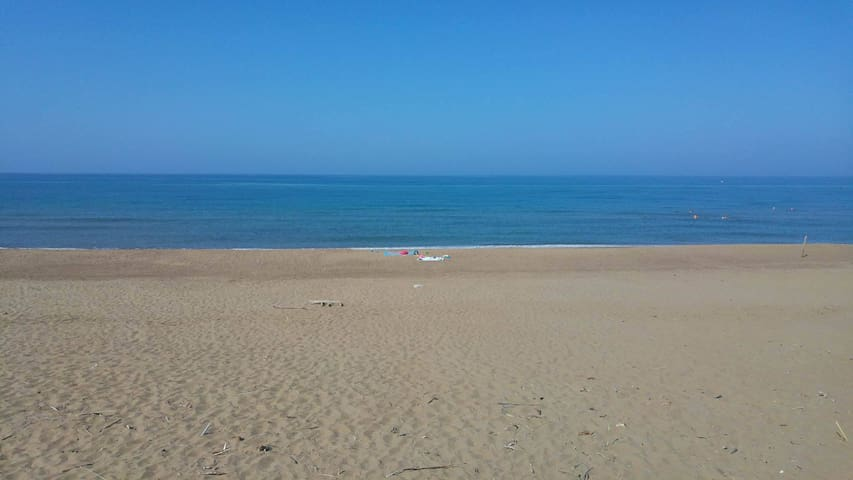 The longest and widest sandy beach in Greece