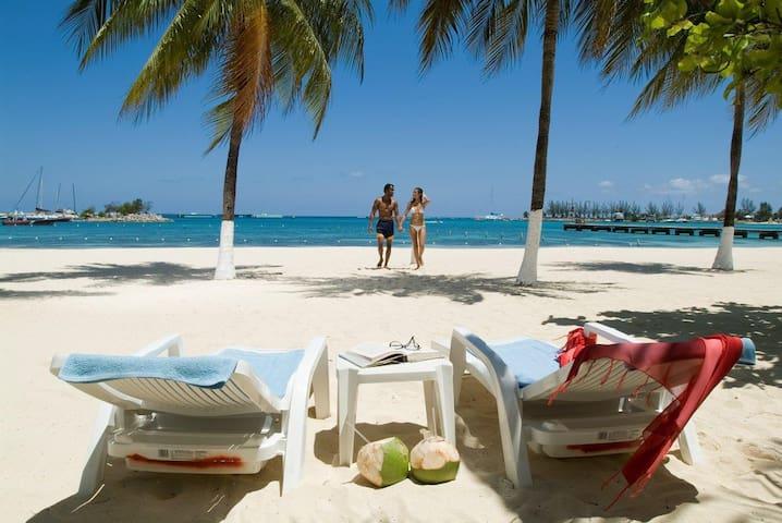Ocho Rios Beach.  Courtesy of J.T.B.
