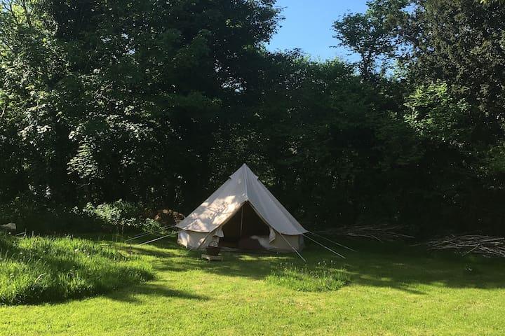 Bella bell tent.  Glamping a la ferme