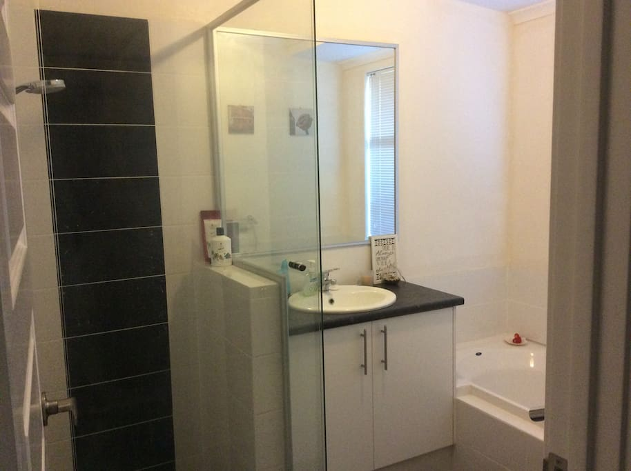 Guest shower, bath and toilet