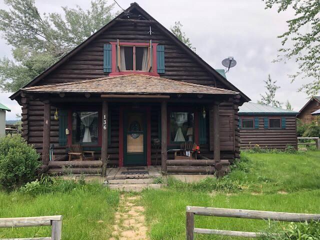 Log Cabin on the Meadow Near Lake Almanor