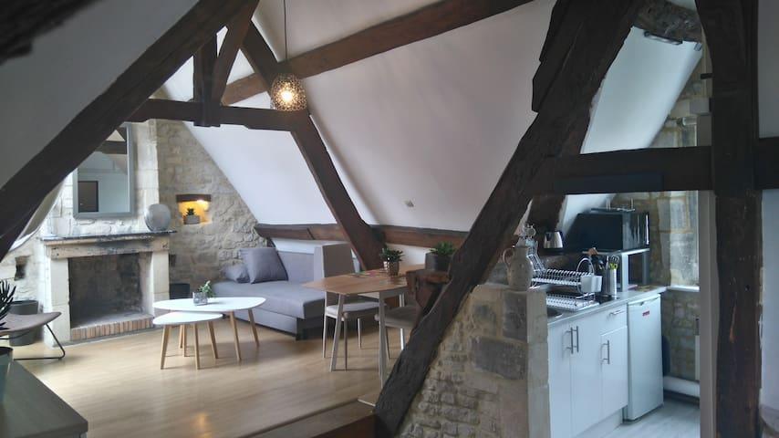 Calme et romantisme au coeur de la ville - Bayeux - Flat