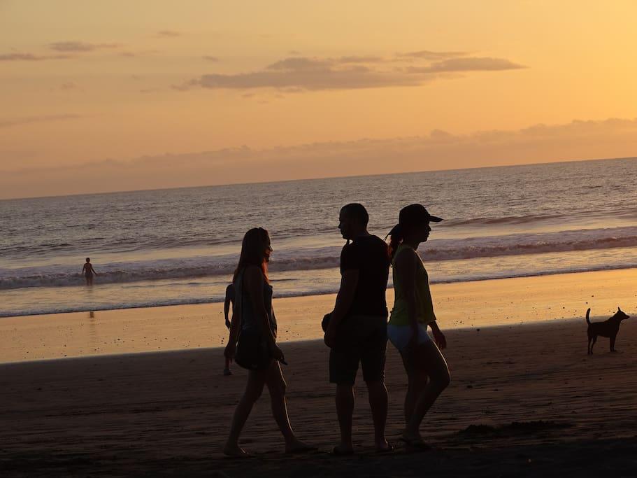 Beach Girls Sunset