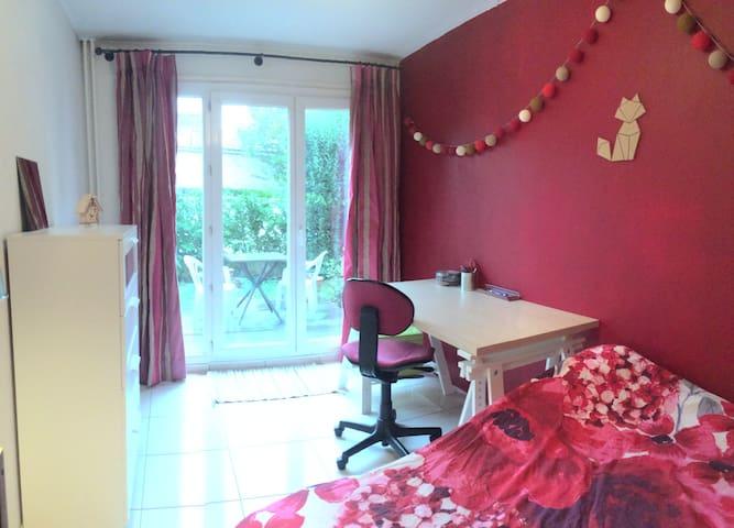 Chambre privée avec accès JARDIN - Versailles - Condominium