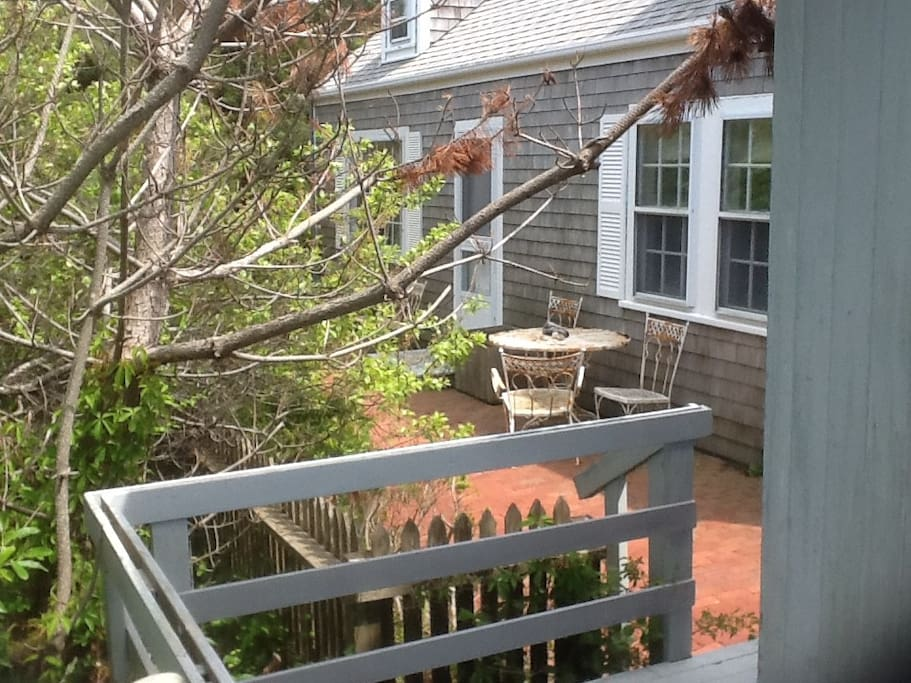 Part of deck. Overlooking porch